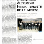 Award 'Support for Innovation' from Confindustria Alessandria
