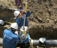 Work on polyethylene pipes